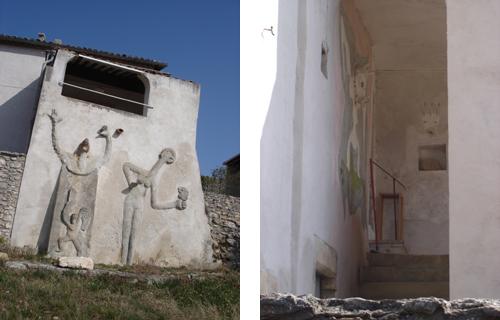 Loplop und die Windsbraut - Relief Südwand + Treppe Loggia