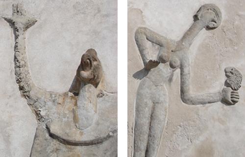 Loplop und die Windsbraut - Relief Südwand: Mann und Frau